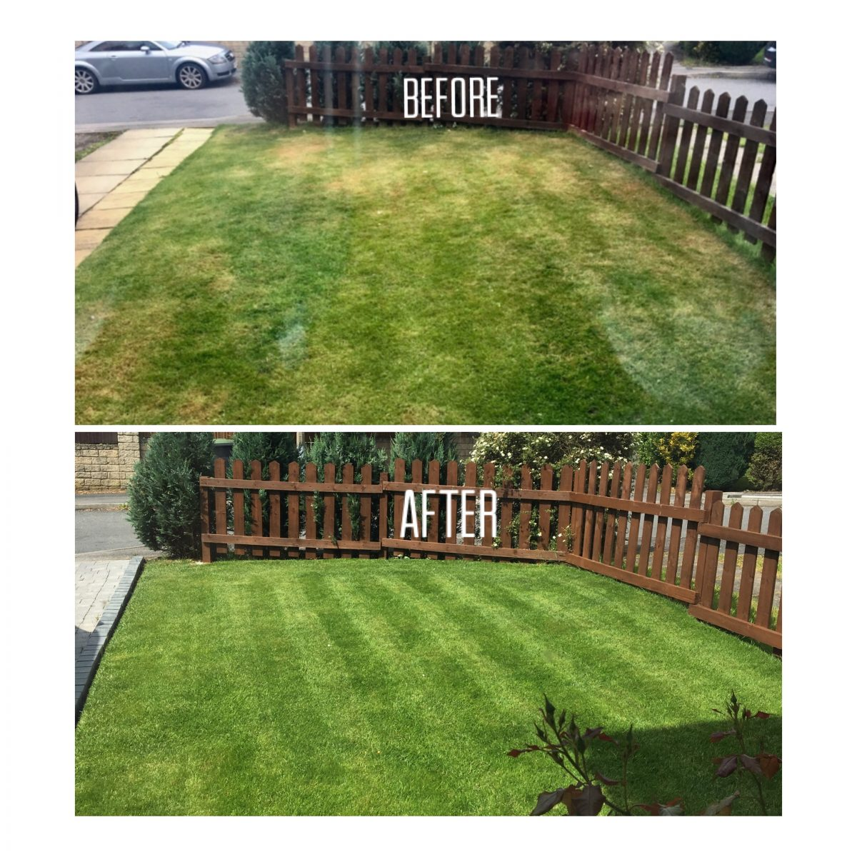 Before & After Lawnkeeper Airedale Lawn